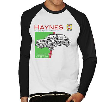 Haynes ejere Workshop Manual 0303 Skoda 110R mænd Baseball langærmet T-Shirt