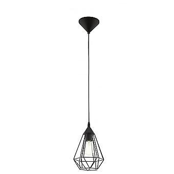 Eglo Tarbes Vintage geometryczne czarny żyrandol, małych