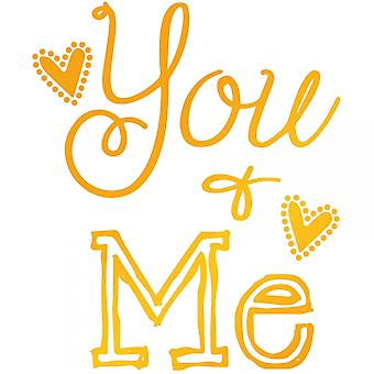 Couture Creations Ultimate Crafts Hotfoil Stamp Die You & Me