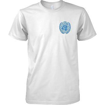 Las Naciones Unidas ONU emblema - pecho de hombre diseño camiseta