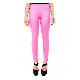 The Fashion Bible Zeta Neon Wet Look Colour Pop Leggings