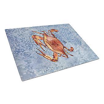 Carolines Treasures  8147LCB Crab  Glass Cutting Board Large