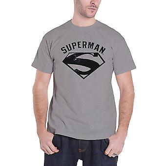 Bouclier vintage Spray Logo nouveau officiel DC Comics gris de T Shirt Superman