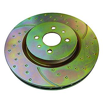 EBC Brakes GD7644 EBC 3GD Series Sport Slotted Rotors Front 11.7 in. Dia. Set of Two EBC 3GD Series Sport Slotted Rotors