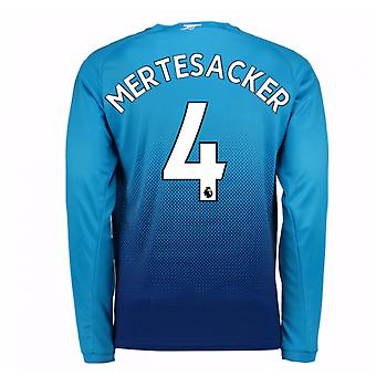 2017-2018 arsenal mouwen weg lange Shirt (Mertesacker 4) - Kids