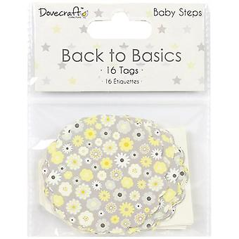 Dovecraft Back To Basics Tags 16/Pkg-Baby Steps DCTOP061