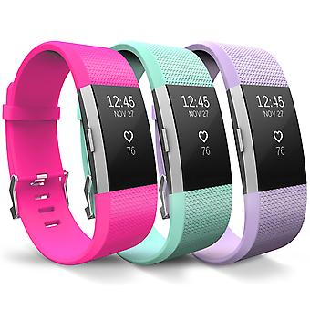 Yousave Fitbit Charge 2 Strap 3-Pack - Small