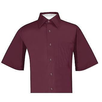 Biagio 100% Cotton Men's Short Sleeve Solid Dress Shirt