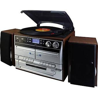 Audio system SoundMaster MCD5500DBR AUX, CD, DAB+, Tape, Turntable, SD, FM, US