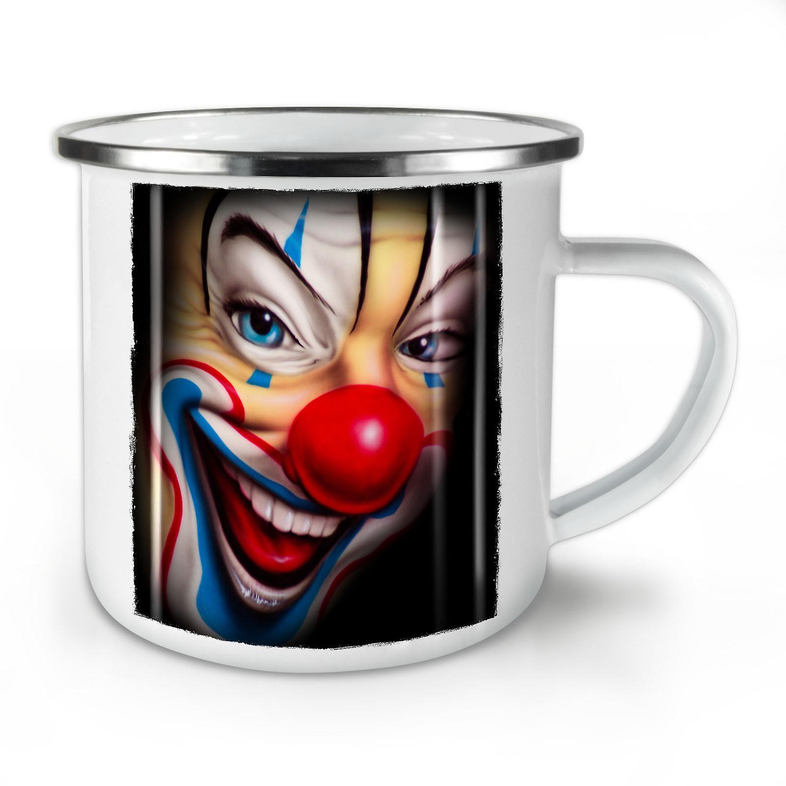 Effrayant Nouveau Whitetea Émail OzWellcoda Café Mug10 Clown KJ1Fcl