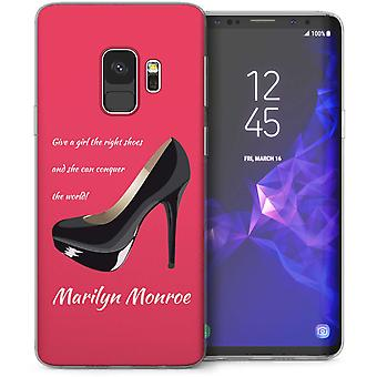 Samsung Galaxy S9 Marilyn Monroe schoenen citeer TPU Gel geval – roze