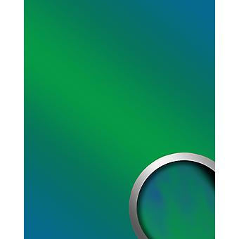 Mirror wall panel design glossy look WallFace 18443 DECO AQUA wall covering abrasion resistant self-adhesive green blue   2.60 m2