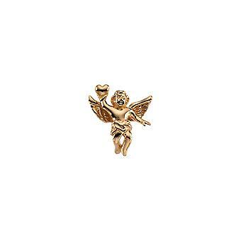 14k Yellow Gold Angel Lapel Pin 17x15.5mm  - 2.9 Grams