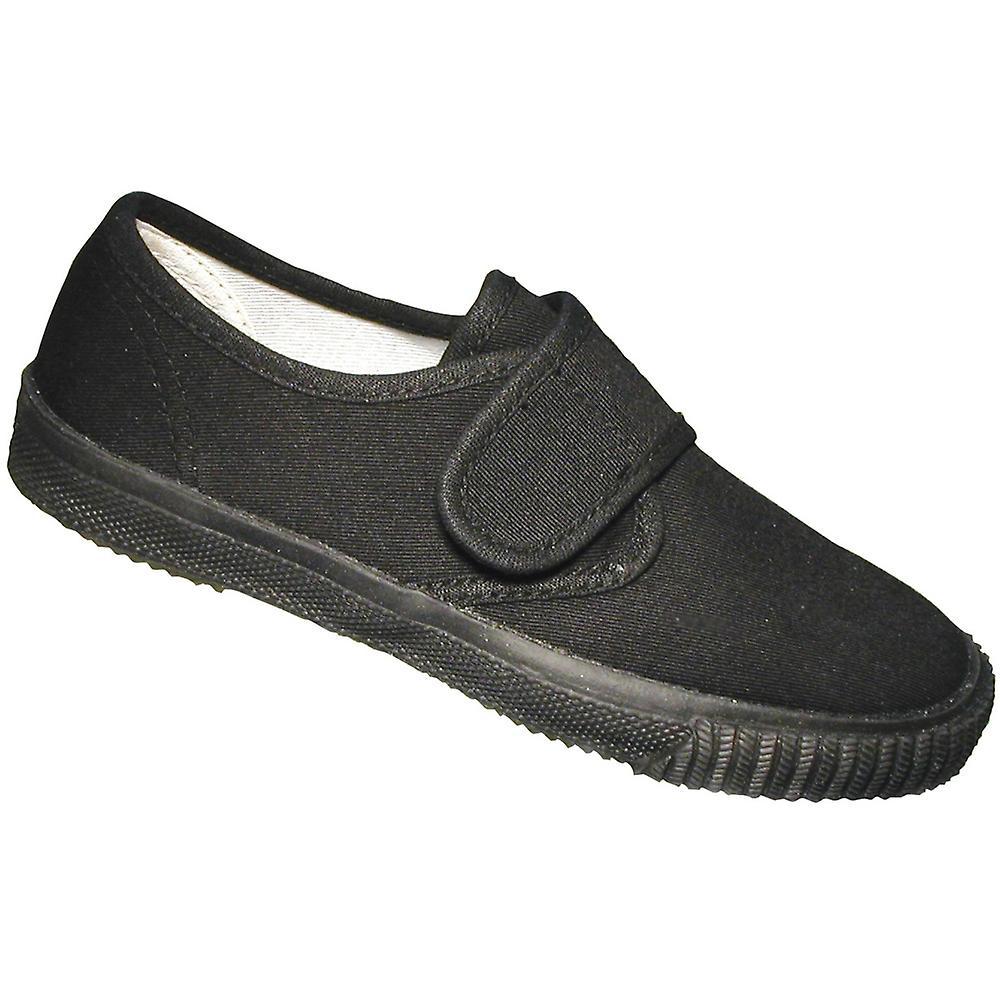 Mirak Boys Textile Plimsoll Sneaker Shoe Boxed Black (Med) (Med) Black 904bb4