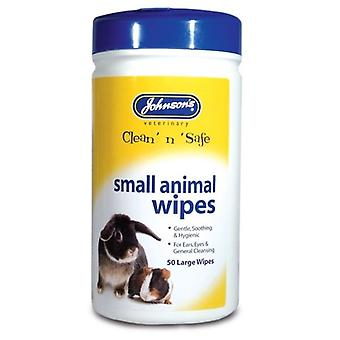 Johnsons Small Animal Cleansing Wipes for Rabbit, Ferret, Guinea Pigs, Rats, etc