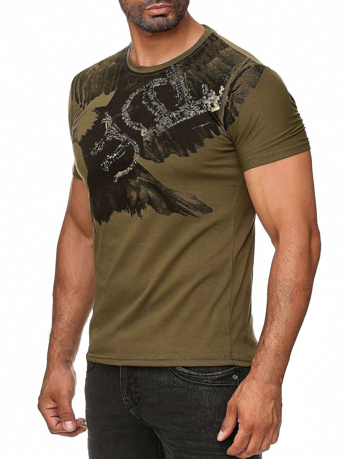 2e654080973fb3 Men Summer T-Shirt Polo Stretch Slim fit Clubwear Shirt Flying Eagle ...