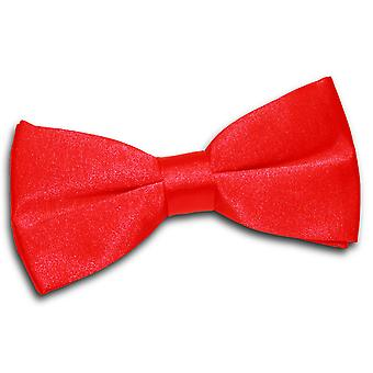 Red Plain Satin Pre-Tied Bow Tie