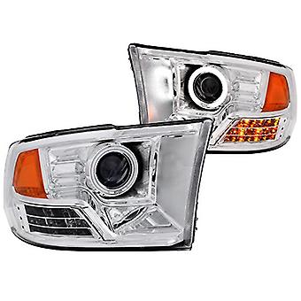 AnzoUSA 111160 Projector Halo Chrome Clear Amber CCFL Headlight - (Sold in Pairs)
