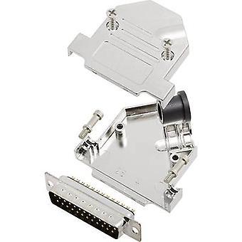 D-SUB pin strip set 45 ° Number of pins: 25 Solder bucket encitech D45NT25-M-DMP-K 1 Set