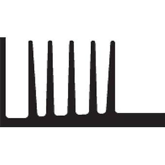Heat sink 3.7 C/W (L x W x H) 50 x 46 x 25 mm TO 220, TO 126 Fischer Elektronik SK 107 50 SA