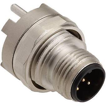 Harting 21 03 321 1510 Sensor/actuator built-in connector M12 PCB plug, mount No. of pins (RJ): 5 1 pc(s)