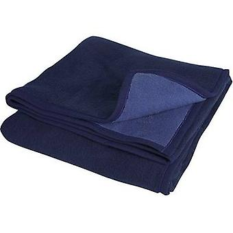 Söhngen WOOLLEN BLANKET ROSTOCK Dark blue, Light blue