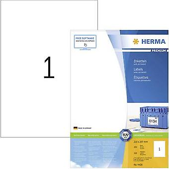 Herma 4428 Labels 210 x 297 mm Paper White