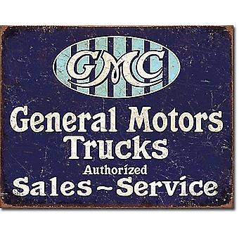 GMC Trucks gemachtigd Metal Sign