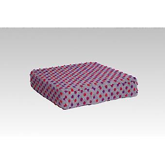 Sitzerhöhung Stuhlkissen Aufstehhilfe silber-bunt 40 x 40 x 10 cm
