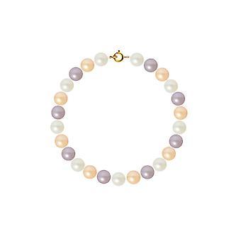 Bracelet Femme Perles de culture d'eau douce Multicolores AA et Fermoir Or jaune 750/1000