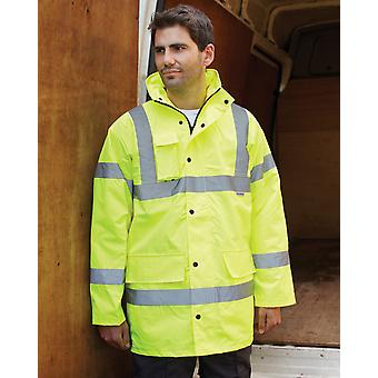 Dickies Hi Vis Waterproof Motorway Jacket-SA22045