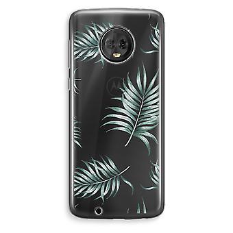 Motorola Moto G6 Plus Transparent Case (Soft) - Simple leaves