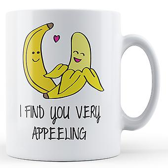 Decorative Writing I Find You Very Appeeling Printed Valentines Day Mug
