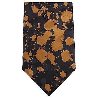 Knightsbridge Neckwear peinture Splash Tie - brun/noir