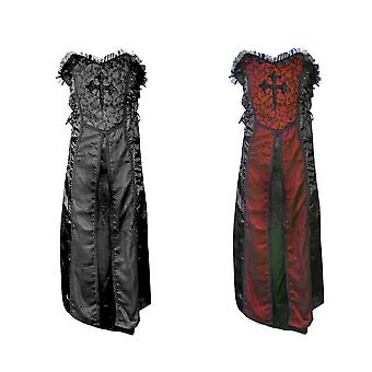 Gothic dress medieval cross Baroness costume Gothickleid XS-XXL 2 colors