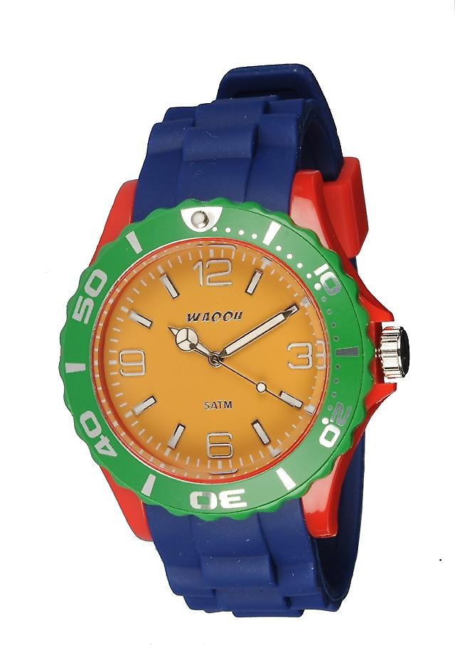 Waooh - Shows MC42 multicolor rood groen & gele mosterd