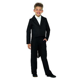 Black Tailcoat, Dance/Ringmaster/Showman, Fancy Dress, Small Age 4-6