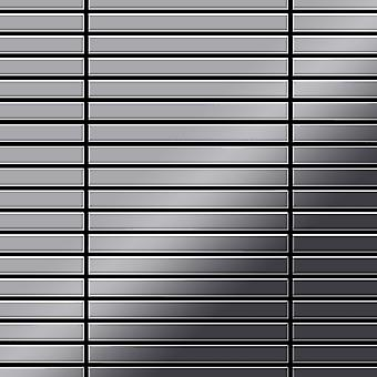 Metal mosaic Stainless Steel ALLOY Linear-S-S-MM