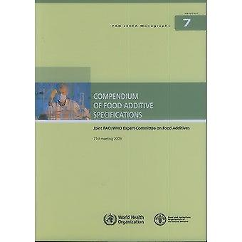 Compendium of Food Additive Specifications by Joint FAO/WHO Expert Co