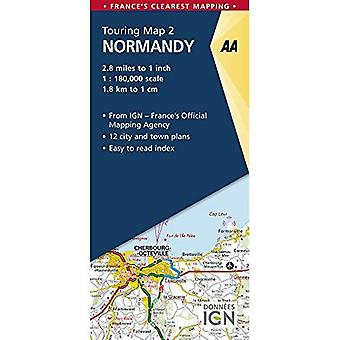 Normandy - AA Road Map France Series 2 (Sheet map, folded)