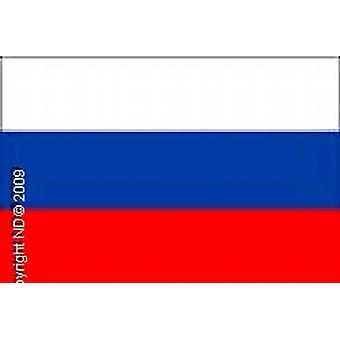 Russia/Russian Flag Hand Held 20 X 14cm.Plastic 30cm Stick, 100% Polyester