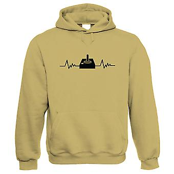 Retro Gaming Joystick and Heartbeat, Hoodie