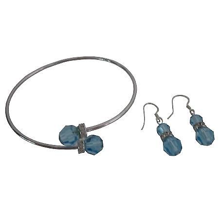 Gift Designer Jewelry Exclusive Beautiful Bracelet & Earrings Set