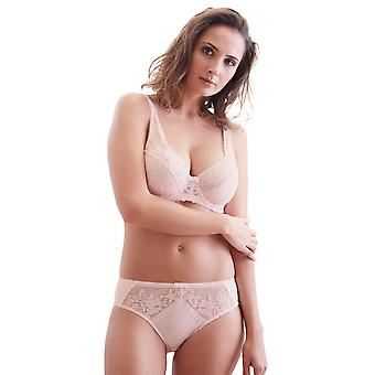 Guy de France 67120-5 Women's Light Pink Lace Underwired Full Cup Bra