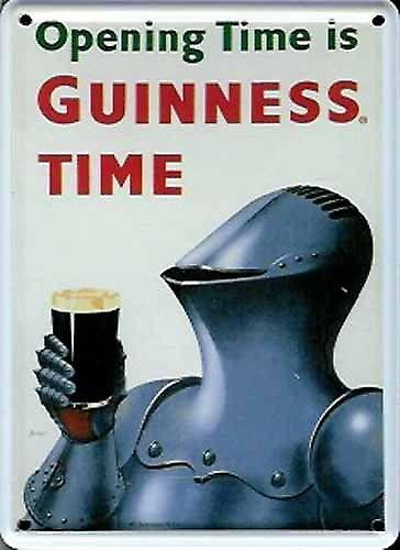 Guinness Knight In Armour mini sign / metal postcard    (hi)