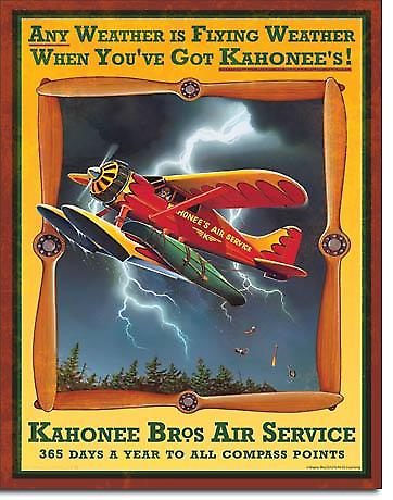 Kahonee Air Service Metal Sign (de)