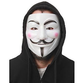 Máscara de Vendetta anonymous Anonymousmaske plástico duro día de Guy Fawkes