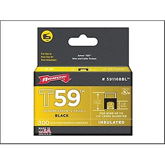 INSULATED STAPLES (300) 6X6MM - BLACK