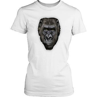 Goryl twarz - Ape głowy wpatrując się Panie T Shirt