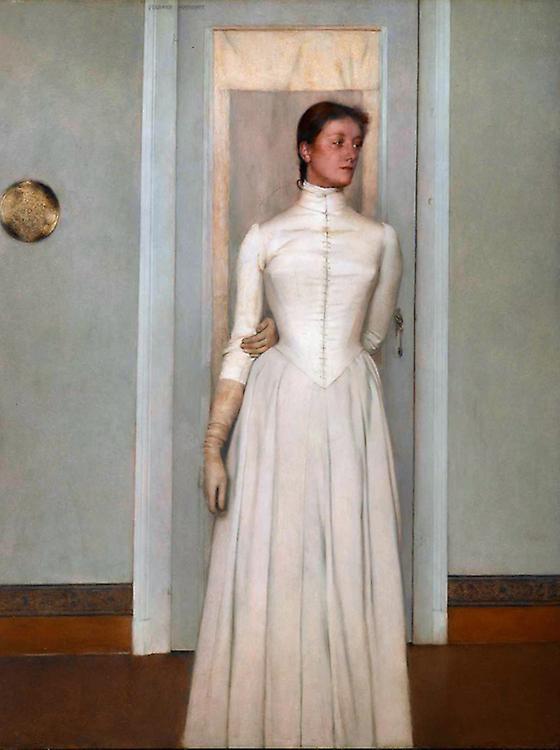 Portrait of Marguerite Khnopff,Fernand Khnopff,50x37cm